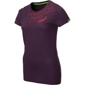 inov-8 Tri Blend Obsessed Koszulka z krótkim rękawem Kobiety, fioletowy